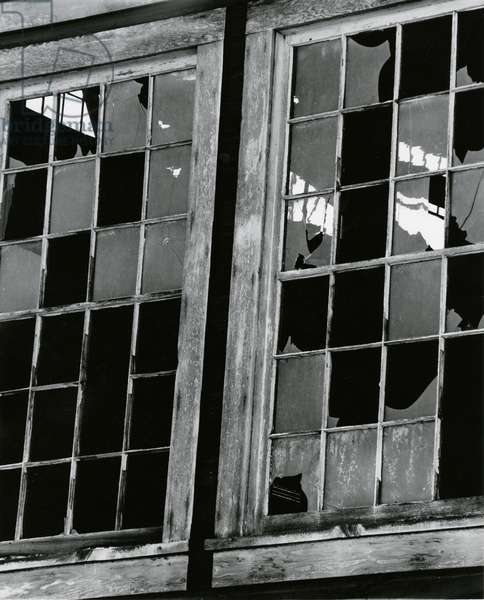Broken Window, c.1970 (silver gelatin print)