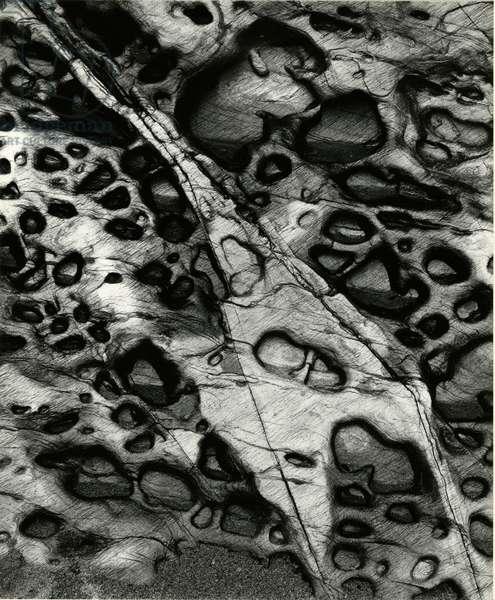 Rock Formation, Europe, 1971 (silver gelatin print)