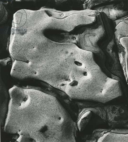 Rock Formation, Point Lobos, California, 1969 (silver gelatin print)