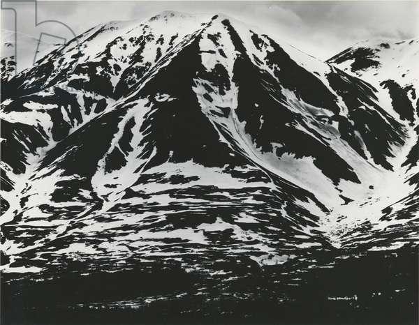 Mountains and Snow, Alaska, 1973 (silver gelatin print)