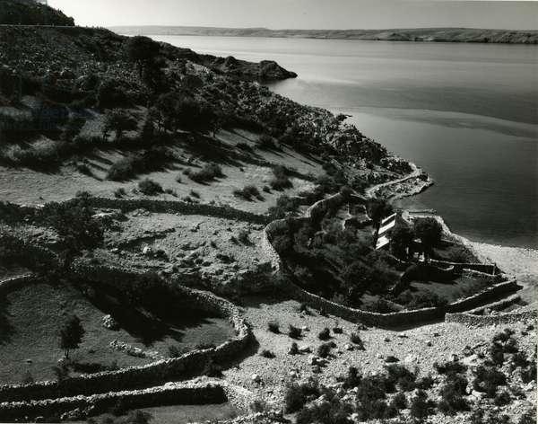 Coastal Scene, Yugoslavia, 1960 (silver gelatin print)