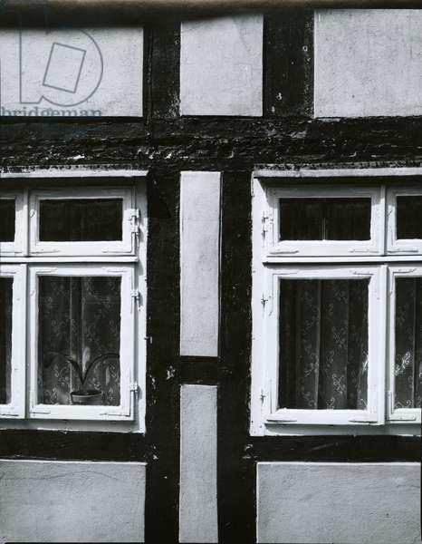 Windows, Europe, 1968 (silver gelatin print)