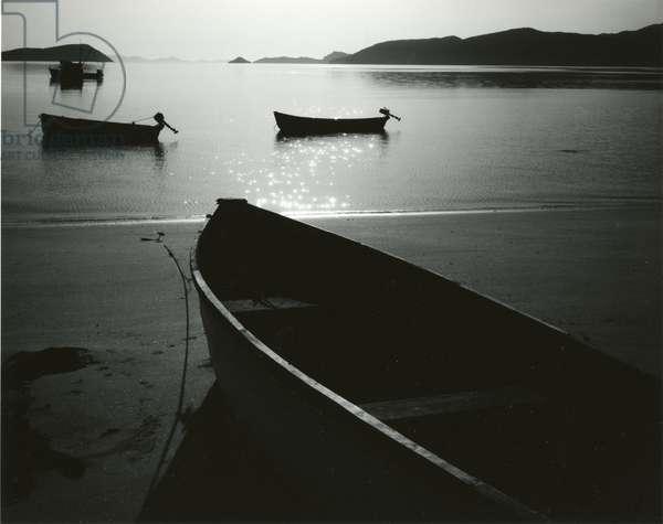 Boats and Bay, Los Angeles Bay, Baja California, 1964 (silver gelatin print)