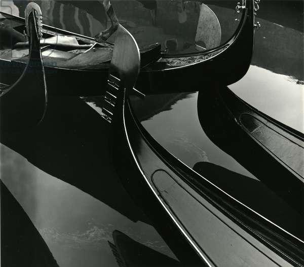 Gondolas, Venice, 1971 (silver gelatin print)