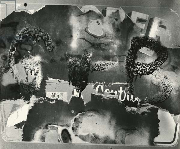 Abrasions, Abstraction, 1977 (silver gelatin print)