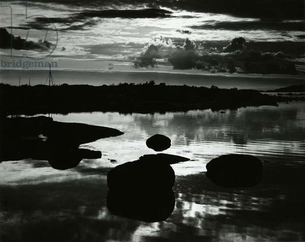 Rock and Water, Europe, 1968 (silver gelatin print)