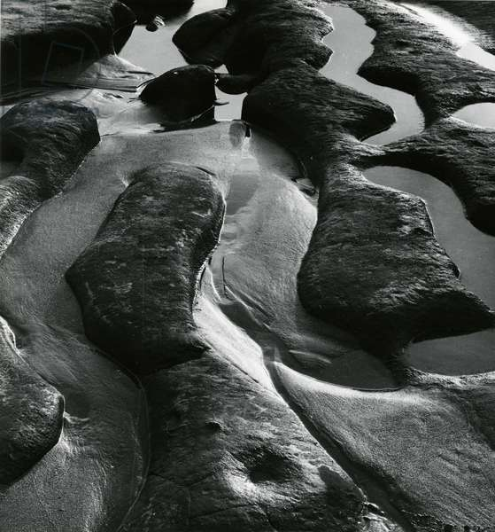 Rock and Water, 1976 (silver gelatin print)