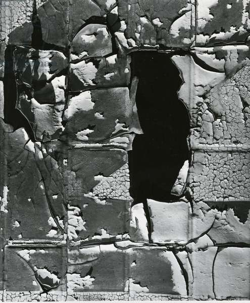 Cracked Paint, c. 1970 (silver gelatin print)