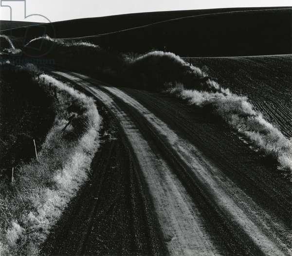 Road and Field, Oregon, 1971 (silver gelatin print)