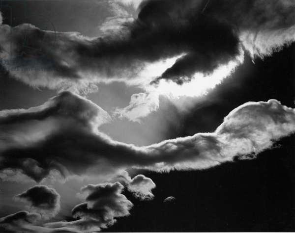 Clouds, Owens Valley, 1967 (silver gelatin print)