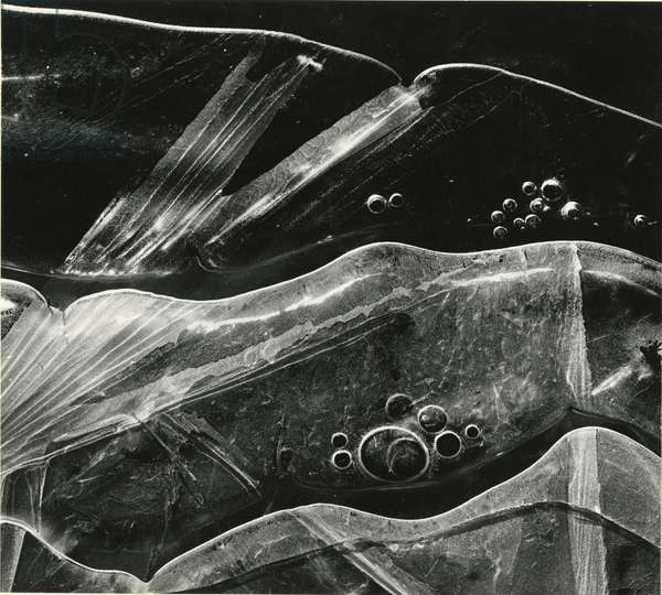 Ice Formation, Oregon, 1970 (silver gelatin print)