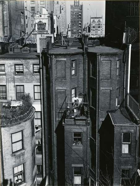 Rooftops, New York, 1946 (silver gelatin print)