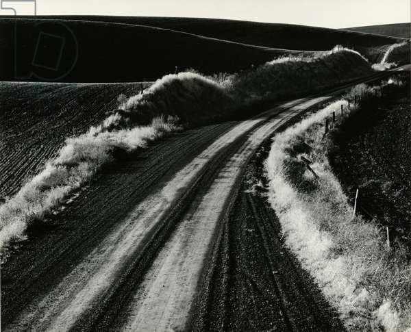 Road and Field, Oregon, 1971 (silver gelatin print)