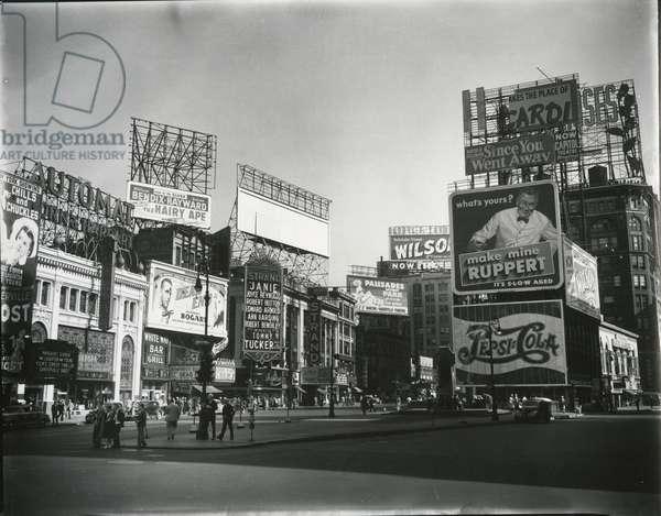 Times Square, New York, c. 1945 (silver gelatin print)