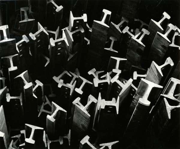 Metal Beams, Industrial, c.1970 (silver gelatin print)