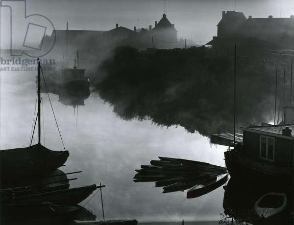 Water, Fog, Boats, 1960 (silver gelatin print)