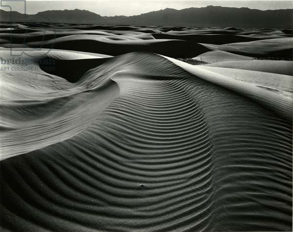 Dunes and Mountains, White Sands, 1946 (Printed 1975) (silver gelatin print)