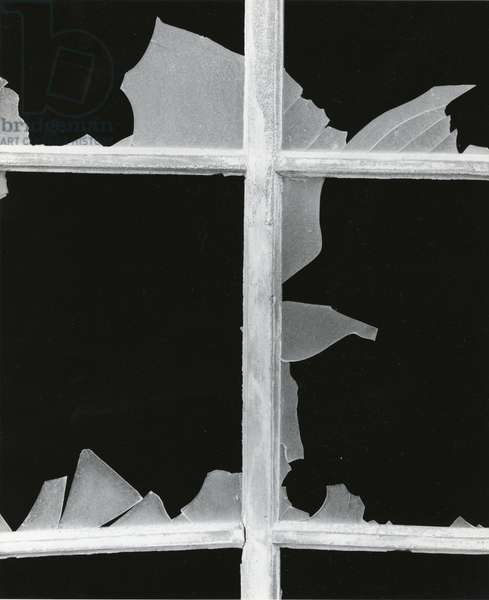 Broken Window, 1971 (silver gelatin print)