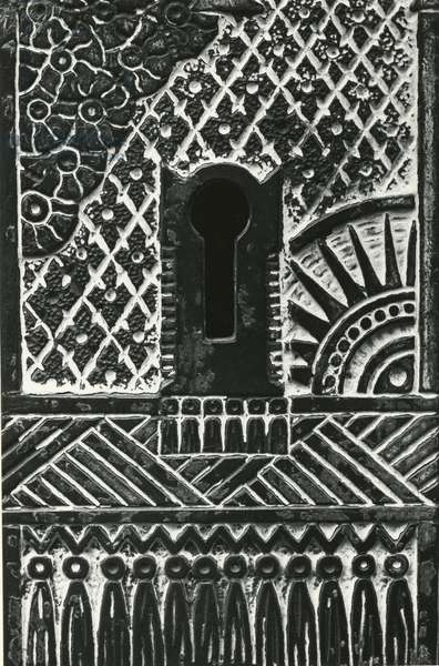 Key Face Plate, 1975 (silver gelatin print)