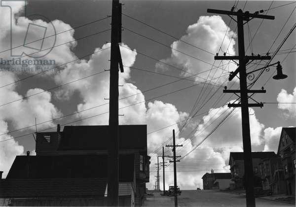 Power Lines, San Francisco, 1938 (silver gelatin print)