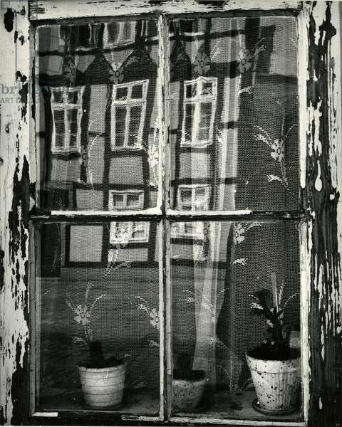 Window with Reflection, Europe, 1972 (silver gelatin print)