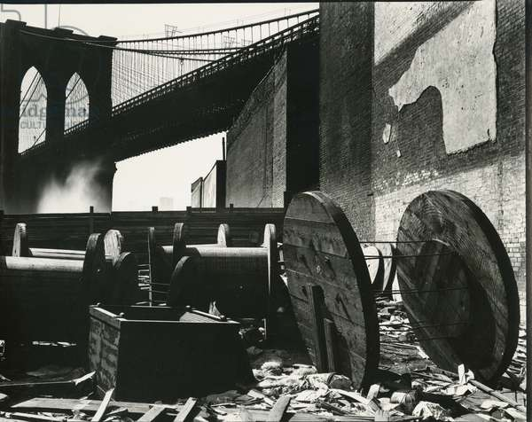 Brooklyn Bridge, New York, c. 1945 (silver gelatin print)