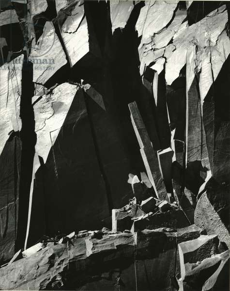 Rock Wall, California, 1969 (silver gelatin print)