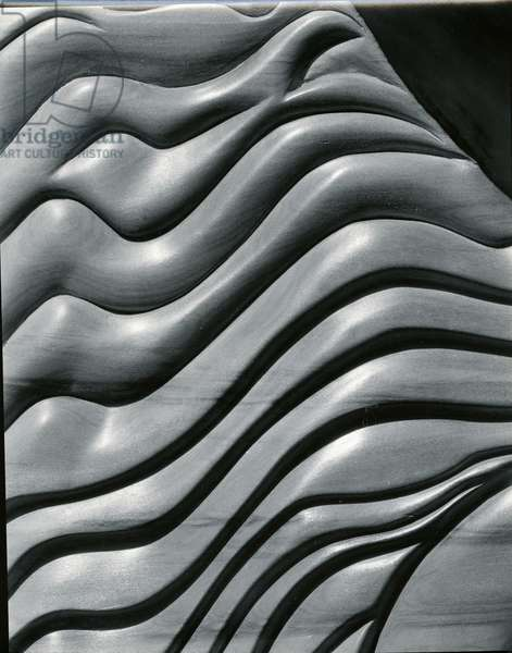 Wood Sculpture, c. 1975 (silver gelatin print)