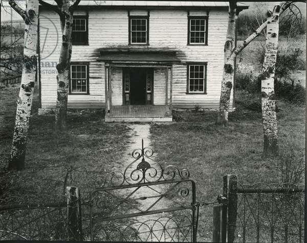 House, Trees, Gate, c. 1950 (silver gelatin print)