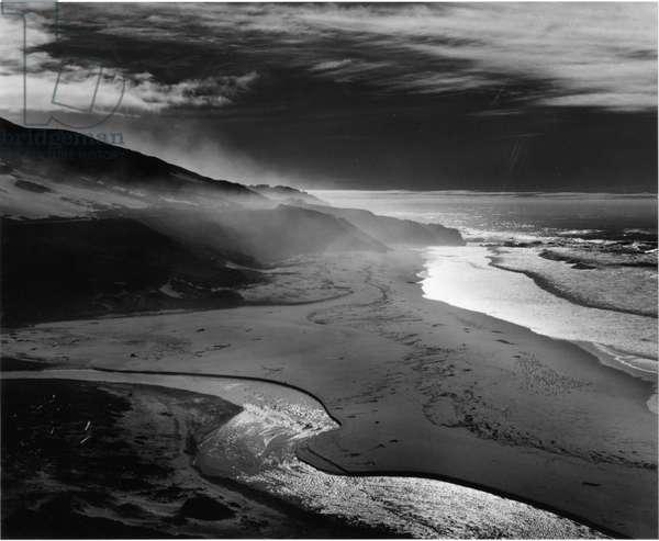 Shoreline, Big Sur, 1981 (silver gelatin print)