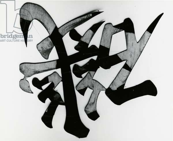 Wood and Calligraphy, Japan, 1970 (silver gelatin print)
