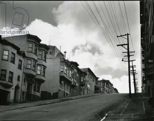 Street, San Francisco, c. 1930 (silver gelatin print)