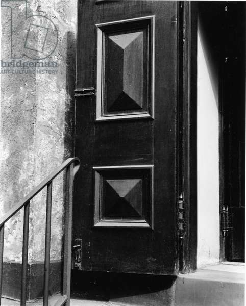 Church Door, Bowery, New York, 1946 (silver gelatin print)