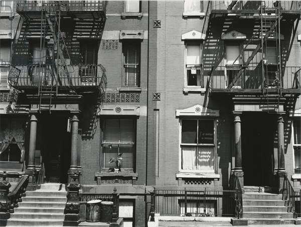 Brownstones, New York, 1943 (silver gelatin print)