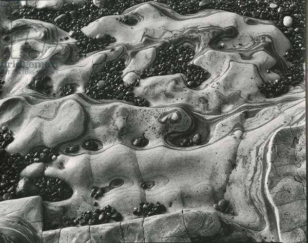 Rock and Pebbles, c.1950 (silver gelatin print)