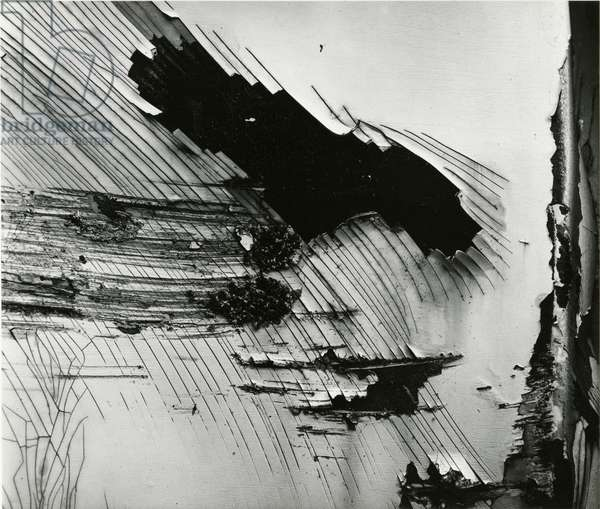Cracked Paint, 1972 (silver gelatin print)