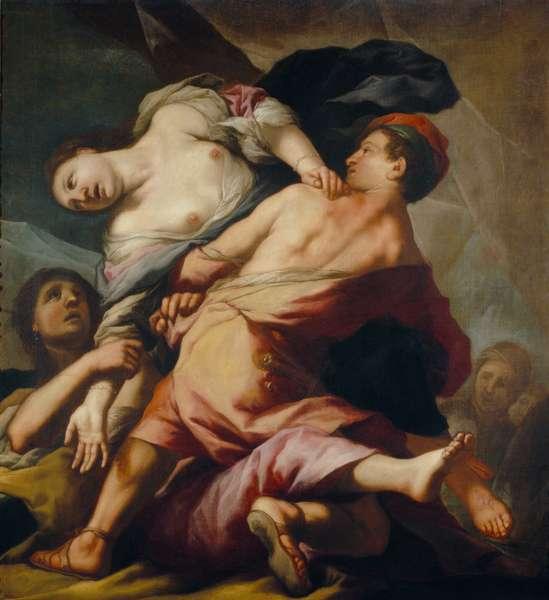 A scene of rape, 1690–1710 (oil on canvas)