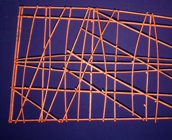 Polynesian bamboo navigation charts (bamboo & shell)