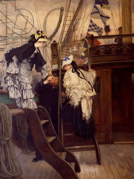 Boarding the Yacht by James Tissot