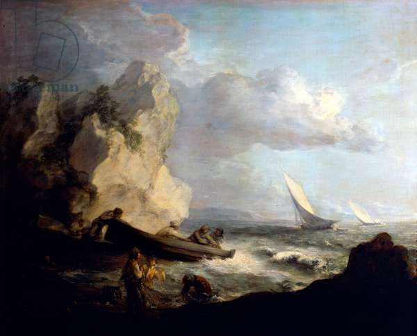 Seashore with Fishermen by Thomas Gainsborough