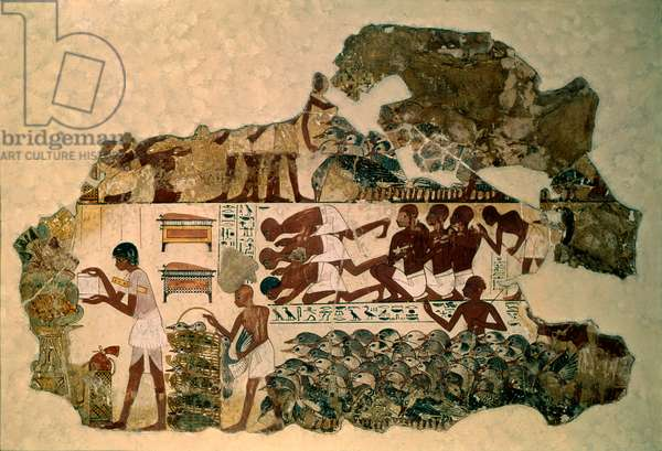 Wall painting from the tomb-chapel of Nebamun, Thebes, Egypt, c.1350 BC (fresco)