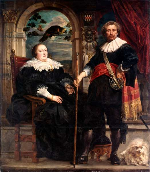 Portrait of a Man & a Woman by Jacob Jordaens