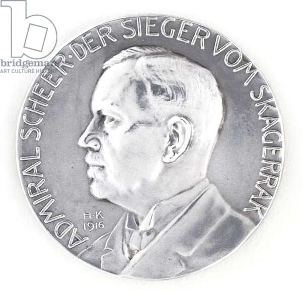German Medal commemorating Admiral Reinhard Scheer and the Battle of Jutland 31 May 1916, c.1916 (metal)