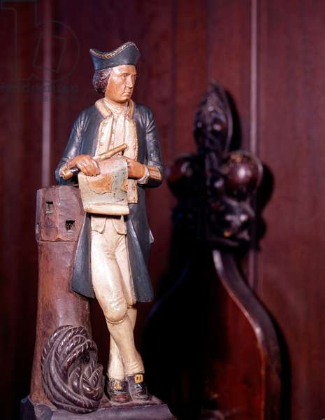 Statuette of Captain James Cook (painted wood)