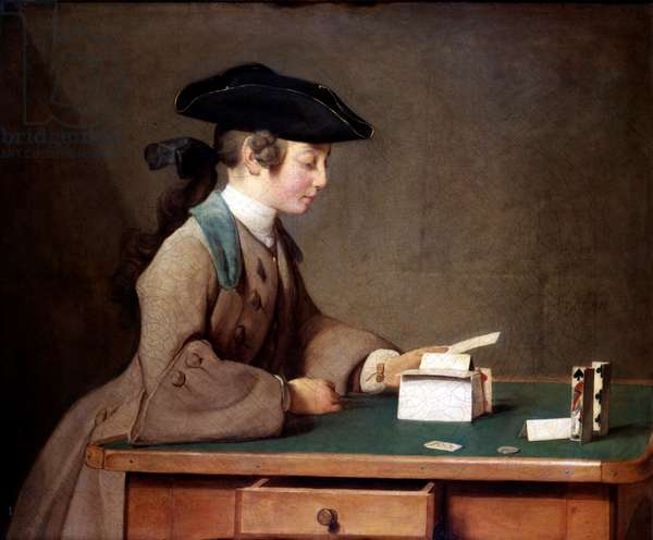 The House of Cards by Jean-Siméon Chardin