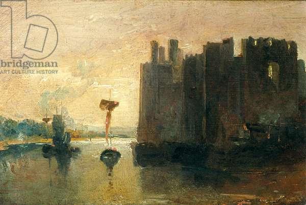'Caernarvon Castle' (oil on canvas)