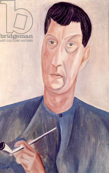 Self portrait, c.1913-14 (oil on canvas)