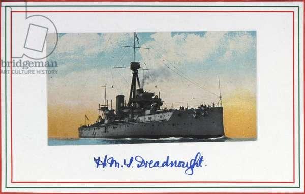 HMS Dreadnought, Royal Navy postcard, early 20th century (print)