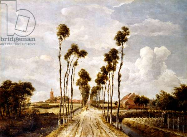 The Avenue at Middelharnis by Mindert Hobbema