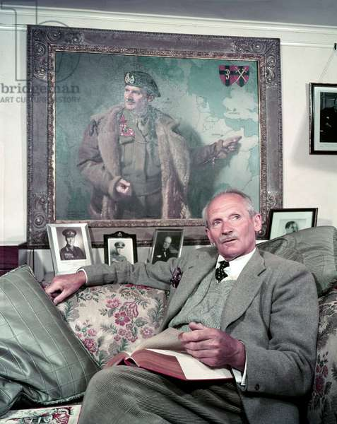 Field Marshal Bernard Law Montgomery (colour photo)